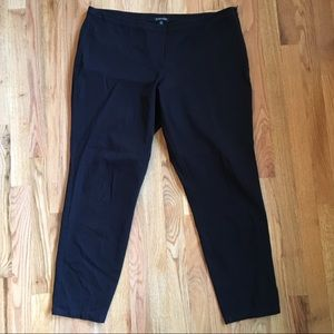 Eileen Fisher black organic cotton dress pants 16